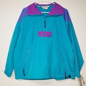 Vintage 90s Columbia Windbreaker Block Color Small